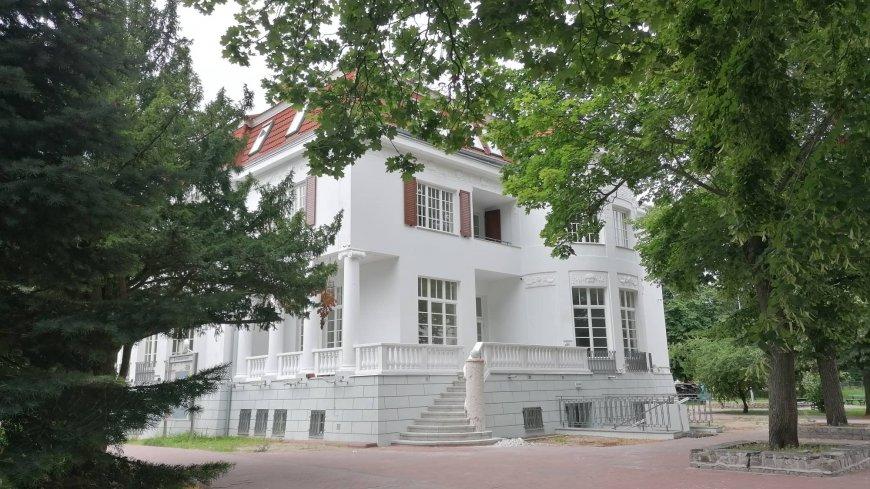 na zdjęciu budynek willi Wegenera po renowacji