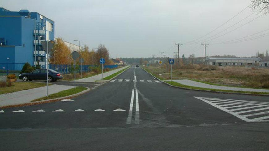 Na zdjęciu zmodernizowana ulica Sosnowa