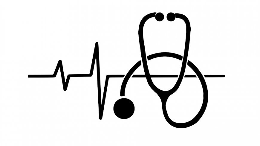 Narysowana linia życia oraz stetoskop.